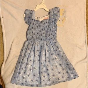 Blue Floral two-piece Girls' Dress Set